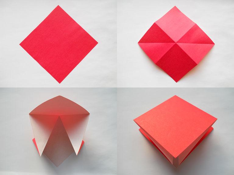Оригами тюльпан схема.