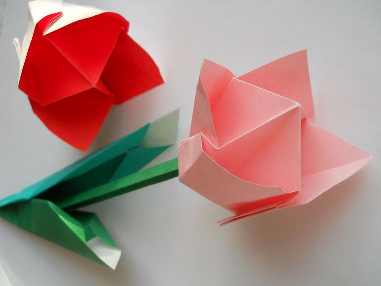 Схемы цветов оригами и видео.