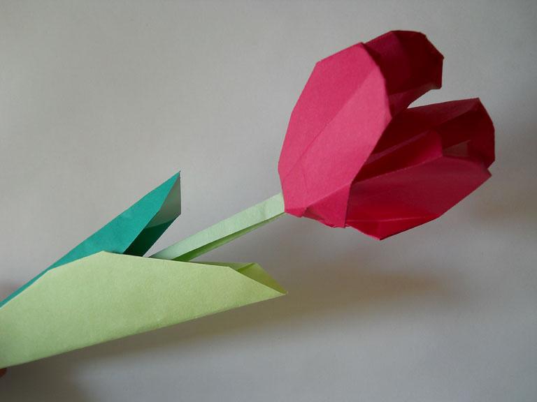 Поделки из бумаги тюльпан.
