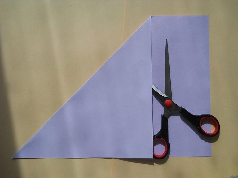 схема тюльпана из бумаги оригами.