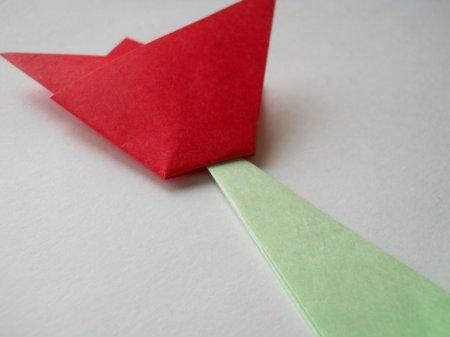 оригами для начинающих тюльпан.