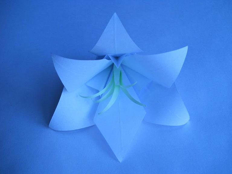 Лилия оригами схема