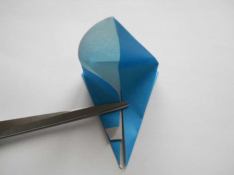 схема оригами колибри.
