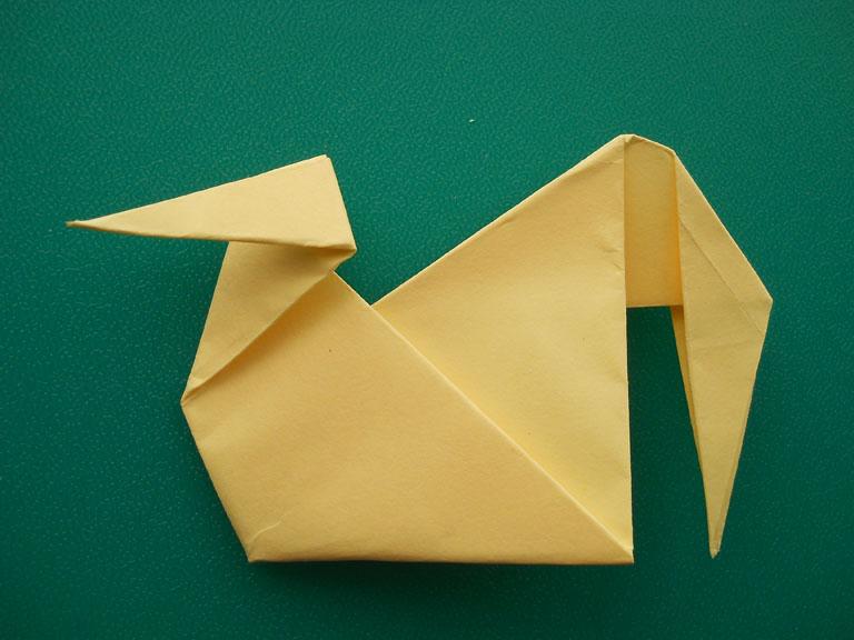 Оригами птичка ребенка
