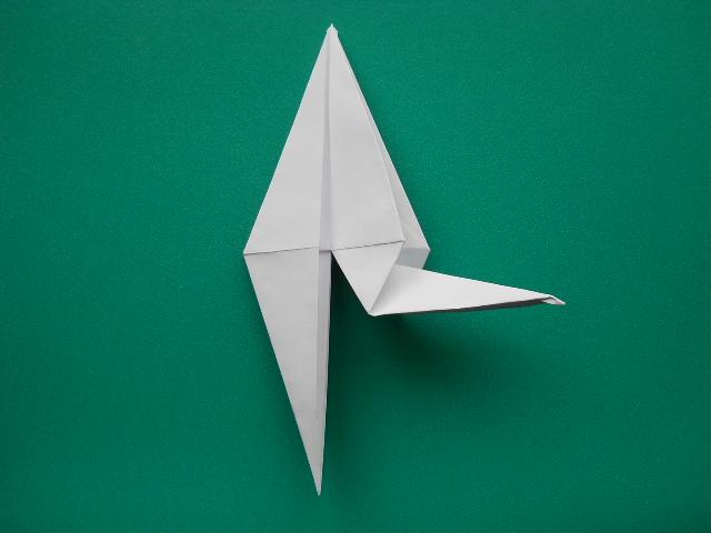 оригами из бумаги журавль.