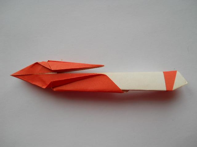 Жар птица из оригами