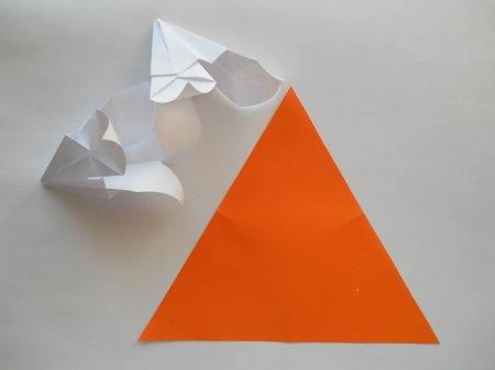 лилия оригами схема.