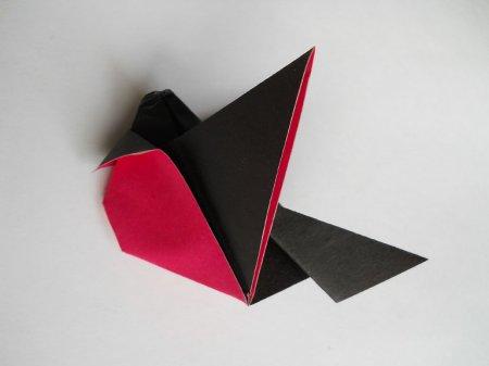 оригами  снегирь
