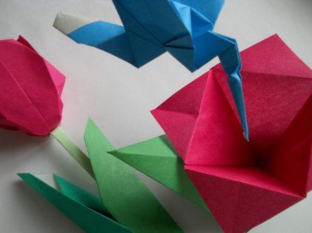 схема оригами колибри