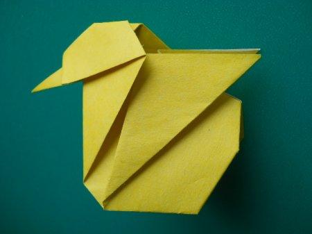 оригами цыпленок схема