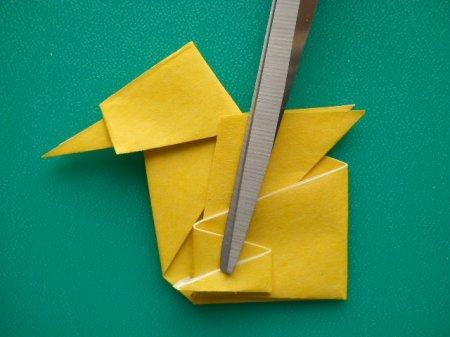 оригами цыпленок схема.