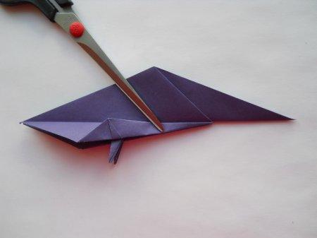 оригами попугай схема