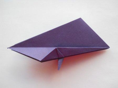 оригами попугай схема.