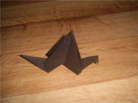 схема оригами аист