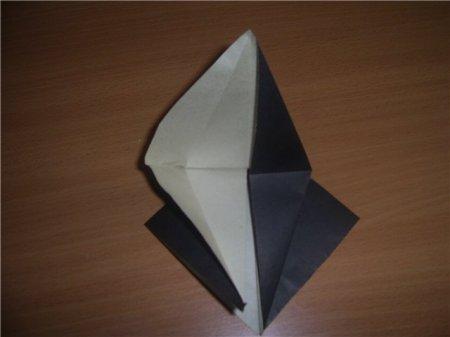 аист из бумаги