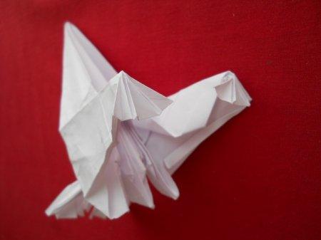 оригами журавль видео