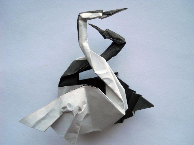 Лебеди из бумаги своими руками оригами схема фото 806