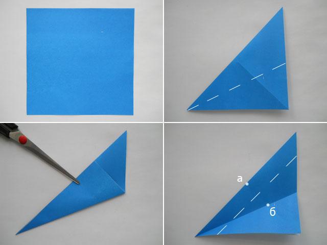 как сделать гадалку из хлопушку из бумаги своими за Китовой акулой.  Акула оригами - Схемы оригами из бумаги.