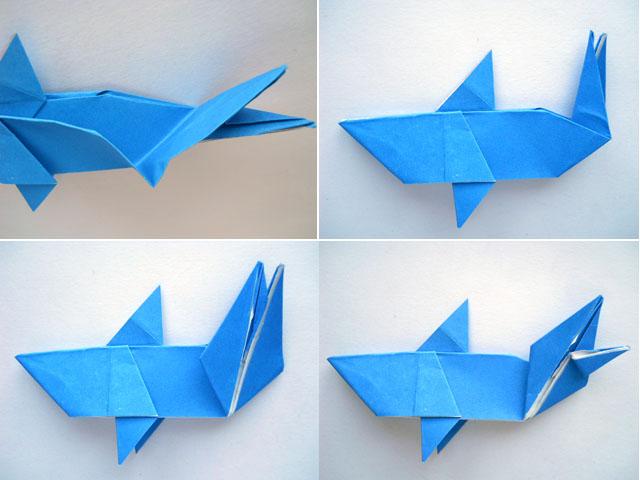 Как сделать акулу из бумаги фото 269