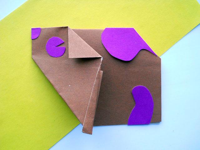 Оригами хомяк
