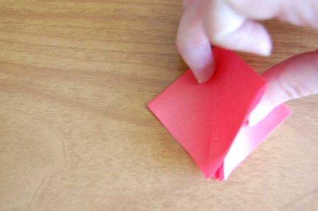 оригами гвоздика схема