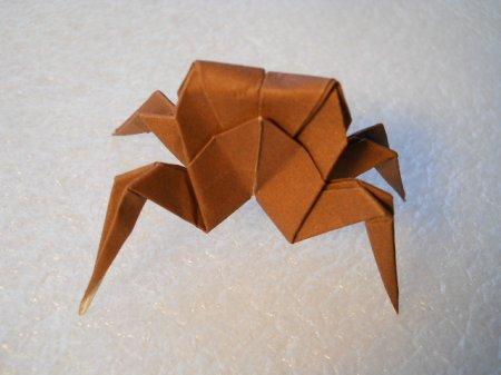 Как сделать из бумаги краба оригами 4