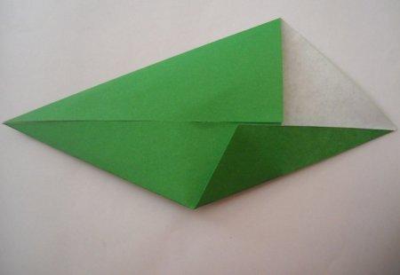 оригами крокодил.