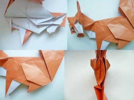 лиса из бумаги
