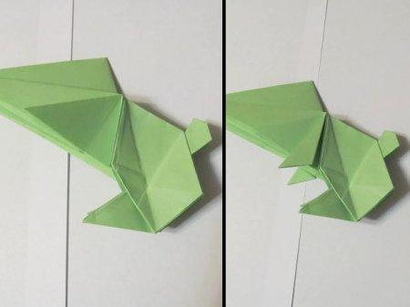 заяц из бумаги оригами
