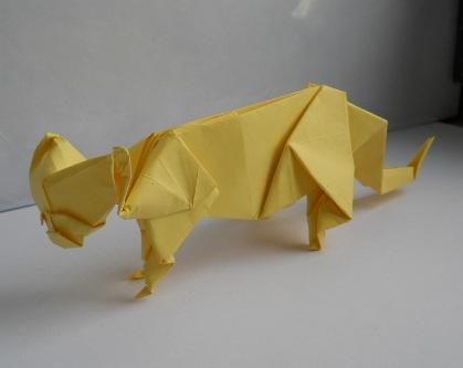 киска оригами.