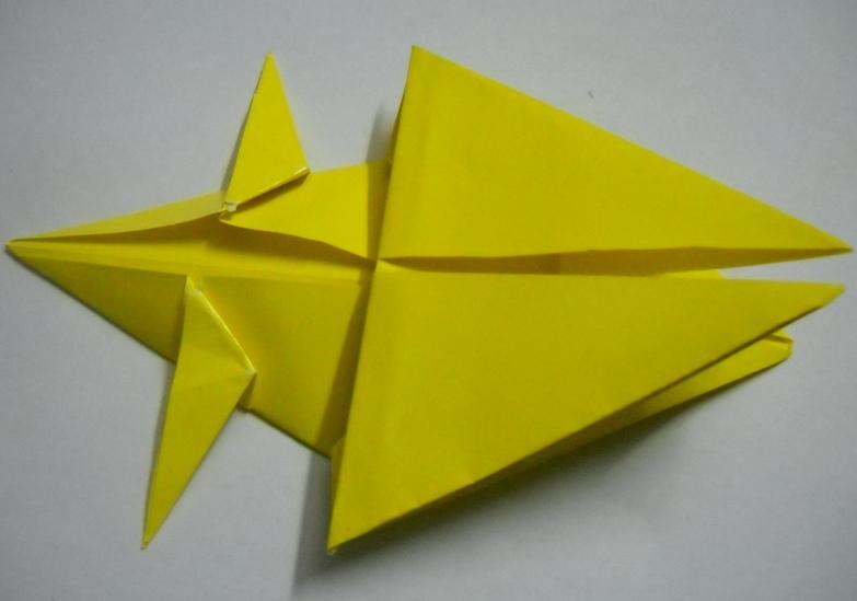 оригами лев схема.