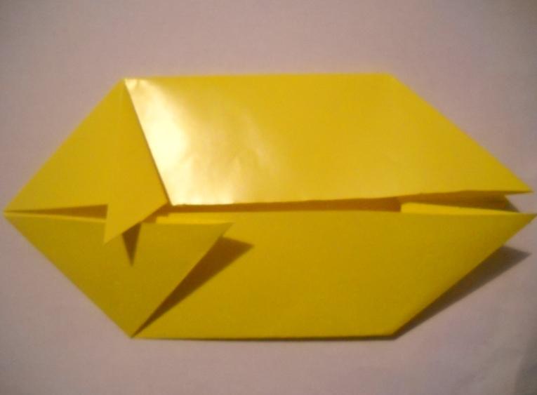 Схема из бумаги лев 55