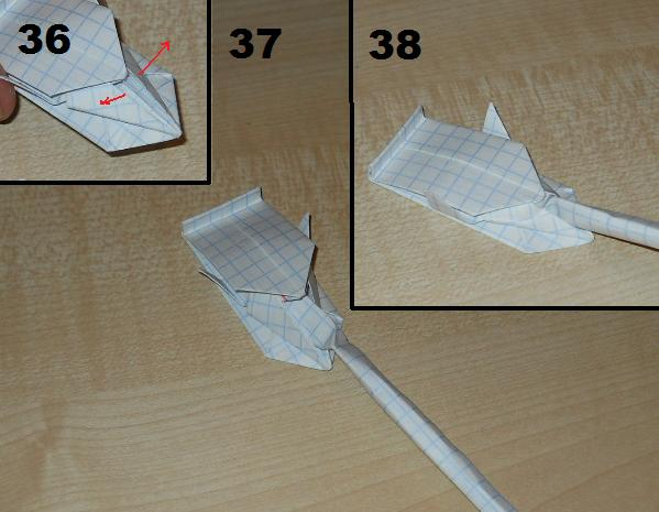 29 май 2012 танк из бумаги оригамиby