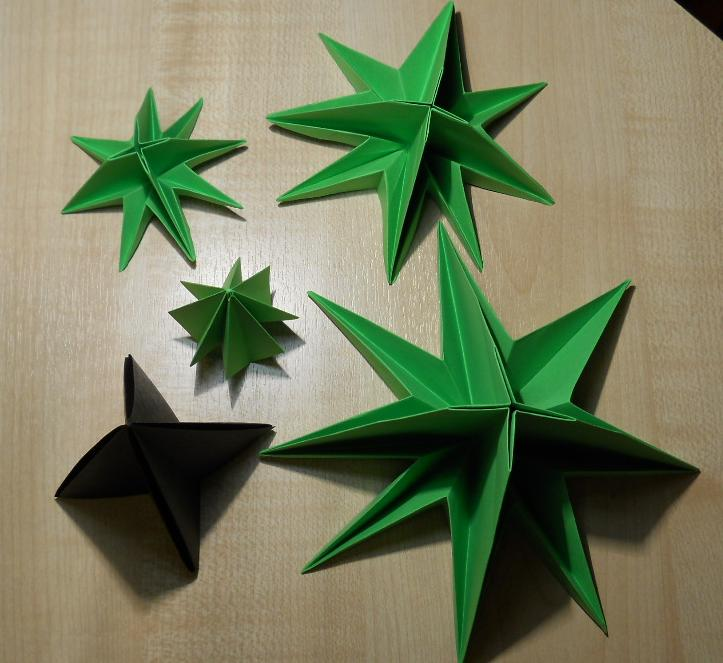 оригами елочка схема 7.