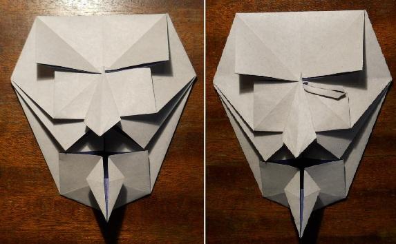 своими из руками скелета бумаги маски