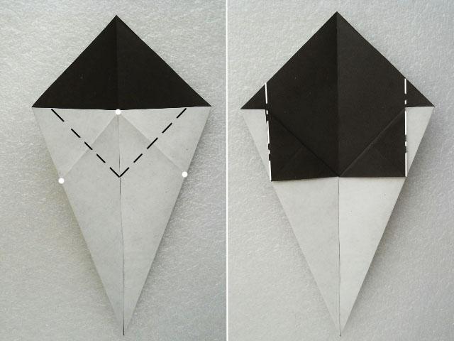 Как сделать из бумаги нож схема фото 403