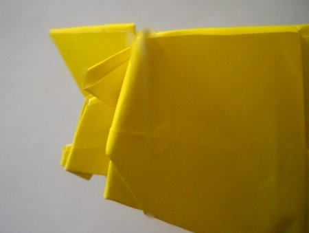 оригами из бумаги лев