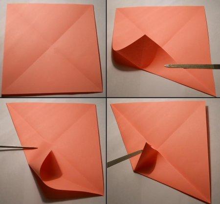 оригами единорог