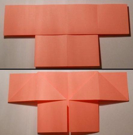 схема оригами ангел