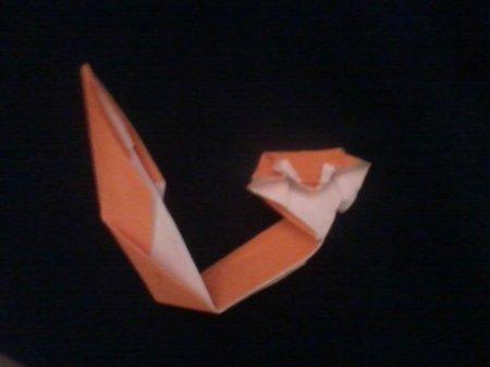 оригами кот схема