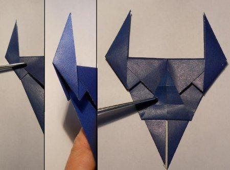 как делать маску из бумаги