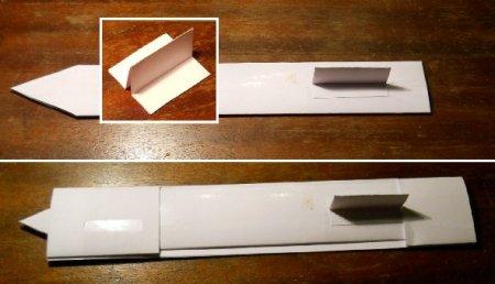 как сделать клинок из бумаги