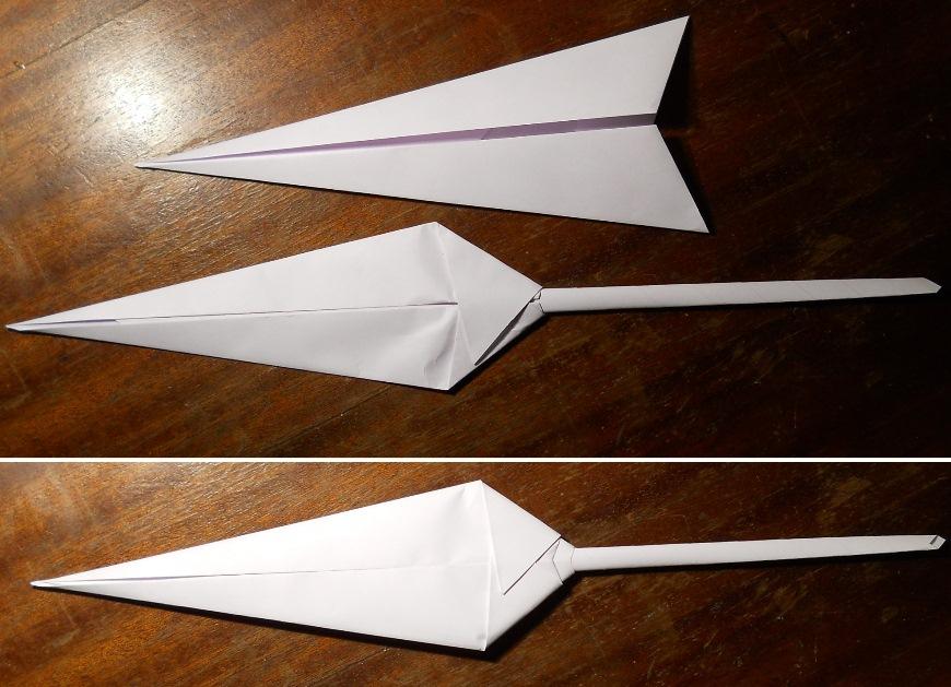 Как сделать оригами кунай 617