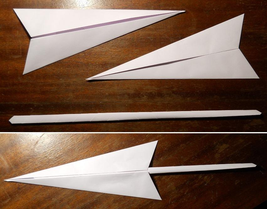 Как сделать оригами кунай 169