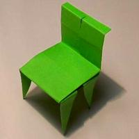 оригами стульчик.