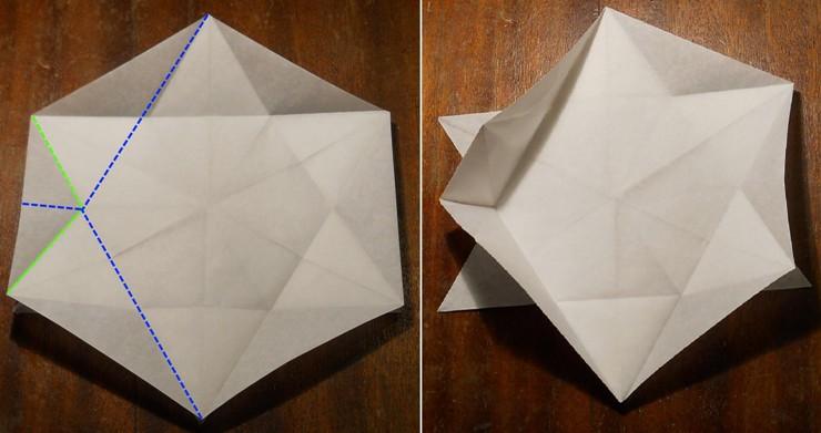 Новогодние оригами снежинка своими руками