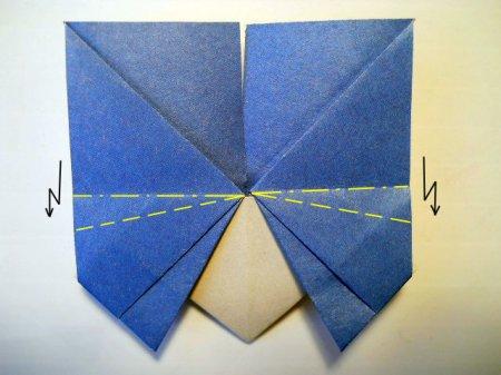 бабочка оригами видео