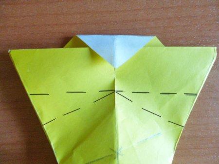 заяц схема оригами