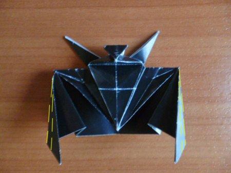 схема оригами летучая мышь