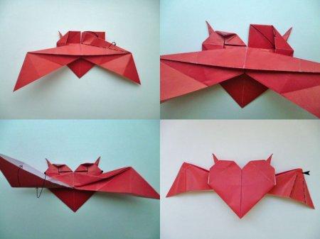оригами сердце из бумаги